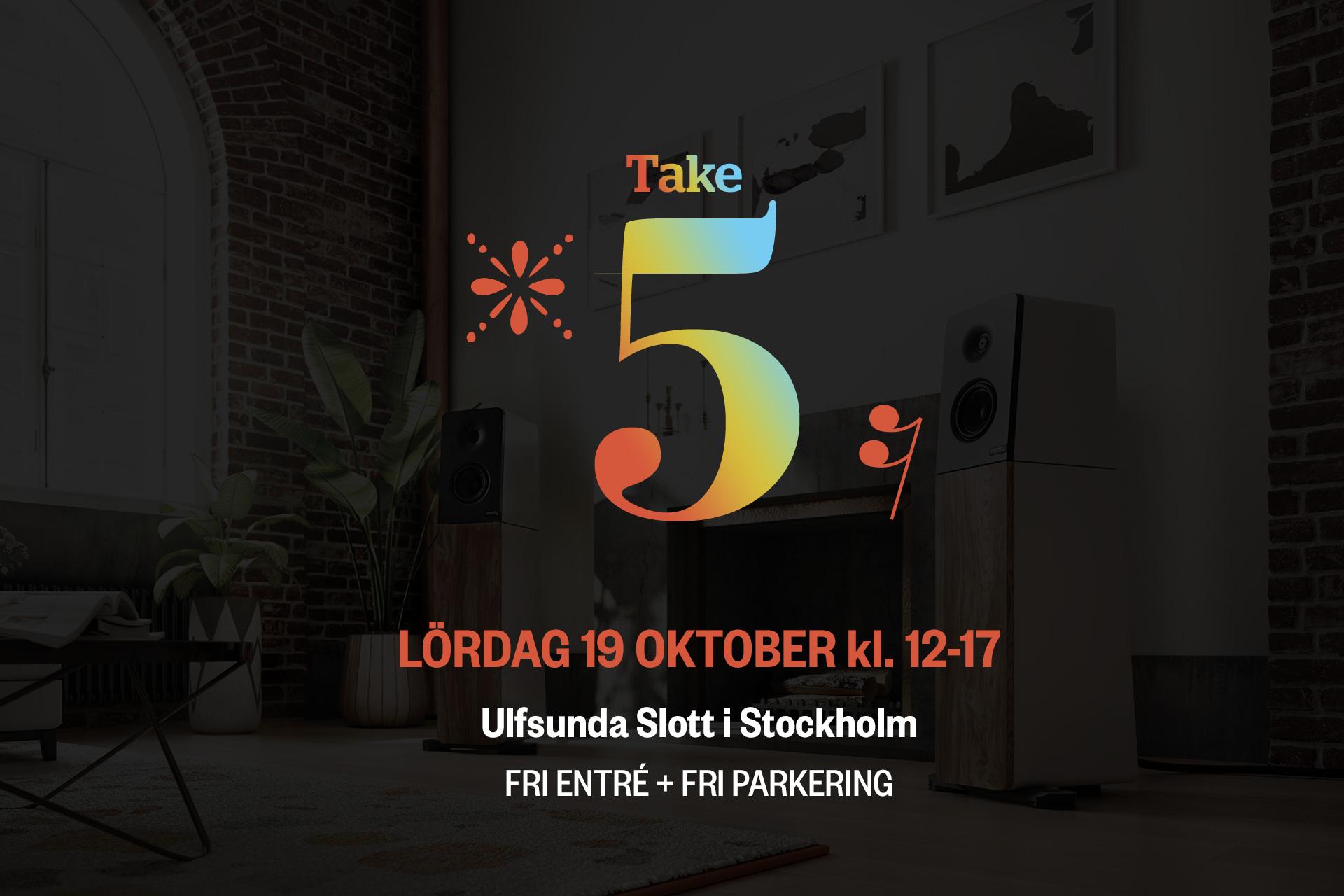 Take 5 - Ulfsunda Slott - Lördag 19 Oktober kl.12-17