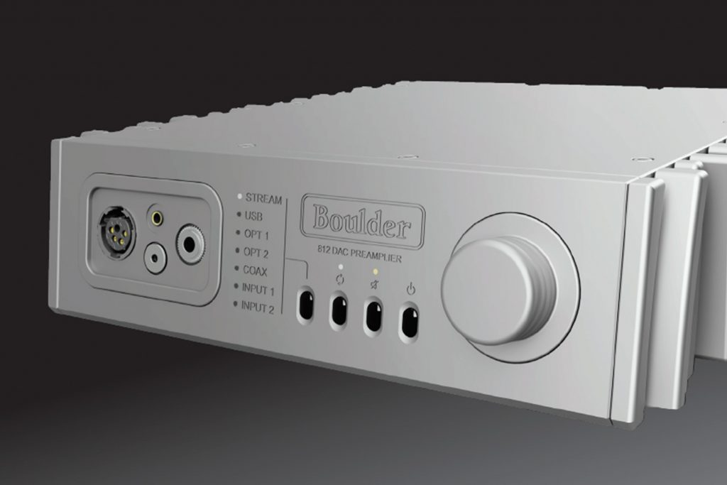 Boulder 812 | Försteg med analoga ingångar, streaming, DAC och hörlursutgångar.